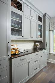 chelsea gray cabinets. Wonderful Chelsea Kitchen Hutch Cabinet Painted In Benjamin Moore Chelsea Gray With Seeded  Glass And Chicken Wire Cabinet On Cabinets I