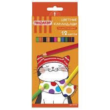 """<b>Карандаши цветные ПИФАГОР</b> """"КОТИК"""", 12 цветов, пластиковые ..."""