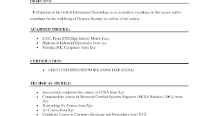 Network Engineer Fresher Resume Sample Sample Resume For Network