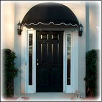 front door awningsblack front door  awning with white trim  Exteriors Entrance