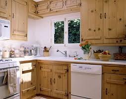 Kitchen cabinets wood Oak Kitchen Kitchen With Bleached Knotty Pine Cabinets Aristokraft Understand Cabinet Materials