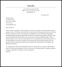 Examples Of A Professional Cover Letters Professional Manager Cover Letter Sample Writing Guide