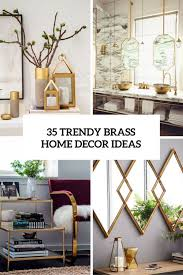 35 chic and bold brass home décor ideas