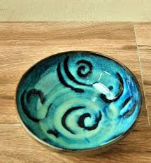 Turquoise Decorative Bowl Blue Turquoise Ceramic Bowl Decorative bowl Personal Soup Bowl 36