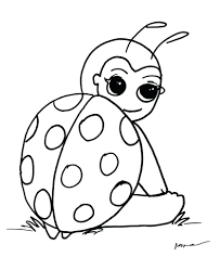 Lady Bug Coloring Sheet Ladybugs Coloring Pages Mayhemcolor Co