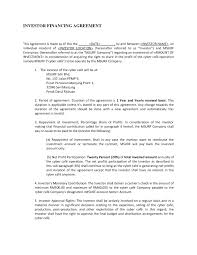 Profit Sharing Agreement Template template Profit Sharing Agreement Template 1