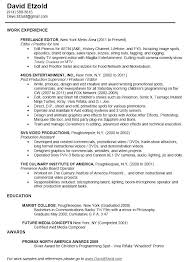 Video Production Resume Samples Video Production Cover Letter Baxrayder
