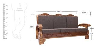 seater sofa in natural teak finish
