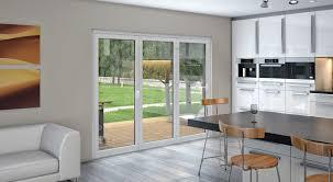 3 panel sliding glass door system