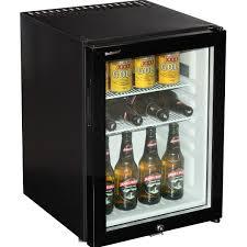 Glass Door Home Refrigerator Motel Style Silent Mini Bar Fridge With Triple Glass Door And Lock