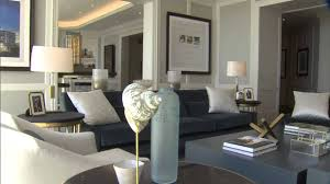 Pic Of Living Room Designs Brian Gluckstein Designs A Living Room Using Blue Youtube