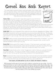 cereal box book report instructions cereal box book report template as pdf