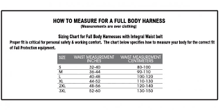 Fall Protection Harness Size Chart Climbing Harness Sizing Climbing And Mountaineering
