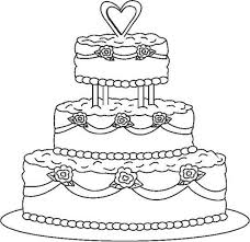 Small Picture Cake Coloring Page Tiered Birthday Cake Coloring Pages With 3