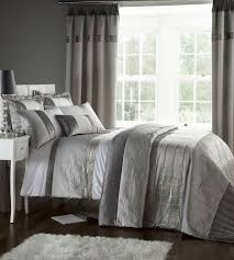 silver grey luxury duvet quilt cover bedding bed