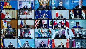 G20 leaders agree to work together on Afghan humanitarian effort