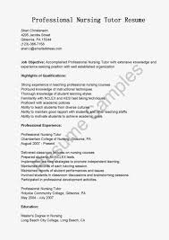 Sample Resume For Bsc Nursing Tutor Resume Ixiplay Free Resume