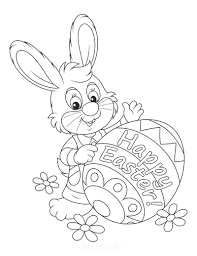 Easter coloring page with few details for kids. 100 Easter Coloring Pages For Kids Free Printables