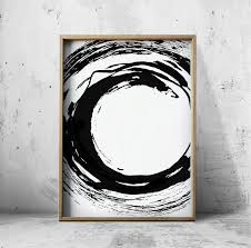 here are 14 examples of black and white abstract art that may not add color but will definitely add style to your walls