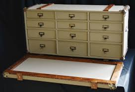 a hand crafted steamer trunk card catalog file made to order from woodbuckle custom furniture storage solutions custommade