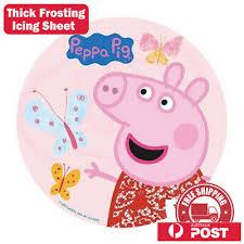 Peppa Pig Edible Kids Birthday Cake Icing Sheet Topper Decoration