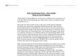 the crucible language essay a level drama marked by teachers com document image preview