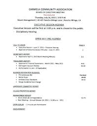 Hoa Annual Meeting Minutes Template Get Top Collection Board
