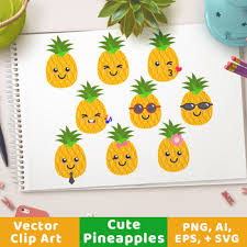 cute pineapple clipart. cute pineapples clipart, pineapple svg, with sunglasses, fruit clipart p