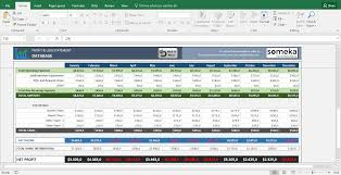 daily profit and loss profit and loss account balance sheet excel statement