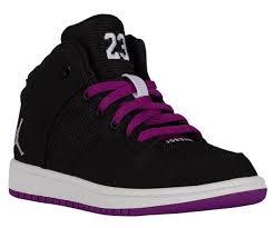 jordan shoes for girls black and purple. kids shoes u1389919 - girls jordan 1 flight 4 (black/white/purple dusk/white) for black and purple h