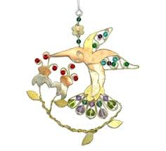 hummingbird ornaments glass baron feeder