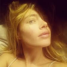 doutzen kroes shared a bare faced photo on insram and captioned the photo