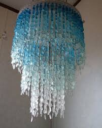 sea glass lighting fixtures sea glass chandelier lighting fixture flush mount ceiling fixture coastal decor beach