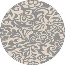 8 round fl gray indoor outdoor rug garden city rc willey furniture