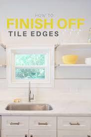 subway tile backsplash edge. Exellent Subway How To Finish Off Tile Edges Throughout Subway Backsplash Edge L