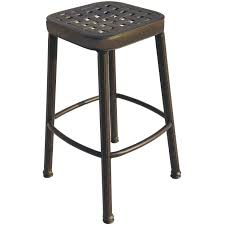 darlee classic cast aluminum square backless patio counter height bar stool