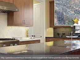 cobalt blue bahia granite countertop design idea