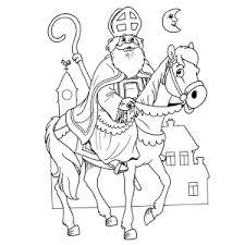 Kleurplaat Gezicht Sint Malvorlage Sankt Nikolaus Malvorlagen 75