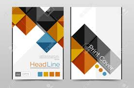Geometric Brochure Front Page Business Annual Report Cover Vector
