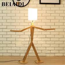 Beiaidi E27 11m Loft Robot Wooden Table Lamp Bedroom Diy Bedside