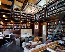 home library office. Elegant Home Library Design With Sofa And Chair Also Stair Office C