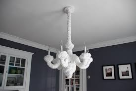 stylish all white chandelier project little smith diy poodle chandelier