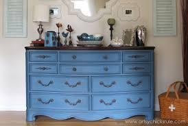 chalk paint furniture picturesAubusson Blue Dresser ReDo  Artsy Chicks Rule