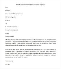 Layout Of A Recommendation Letter Recommended Letter Format 7 Resume Layout