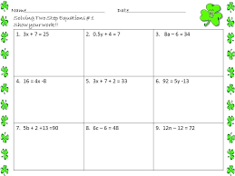 2 step algebra equations worksheets free worksheets