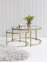 coco nesting round glass coffee tables house decor pertaining to coffee tables