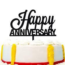 Jennygems Happy Wedding Anniversary Cake Topper Walmartcom