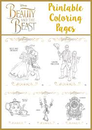 Beauty And The Beast Printable Coloring Pages The Momma Diaries