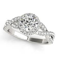 infinity diamond engagement ring. diamond infinity twisted halo engagement ring 14k white gold 2.00ct