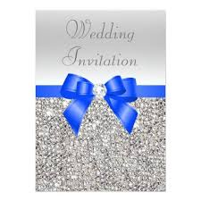 209 best diamond wedding invitations images on pinterest silver Diamond Wedding Cards And Gifts silver sequins royal blue bow and diamond wedding card Wedding Anniversary Gifts by Year